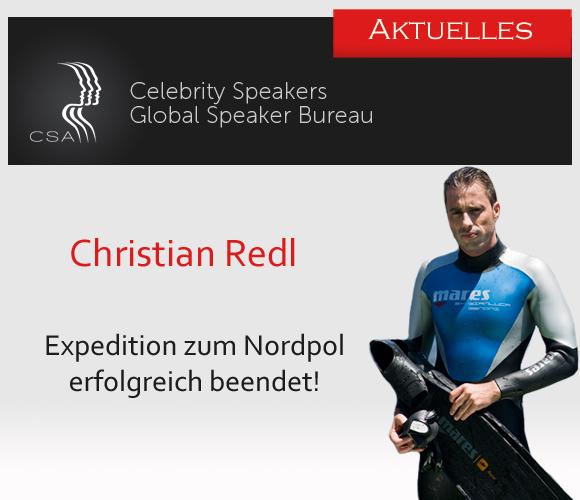 Die Redneragentur CSA freut sich über den Erfolg der Expedition von Christian Redl