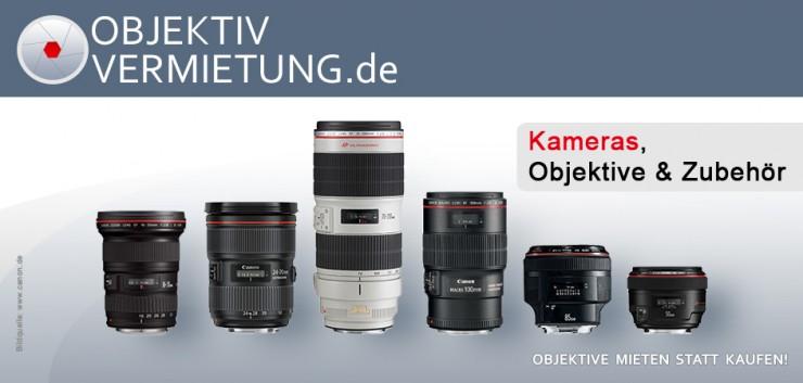 objektivvermietung.de: neuer Qualitäts-Verleih für Foto- und Filmequipment für Profi- und Hobby-Fotografen