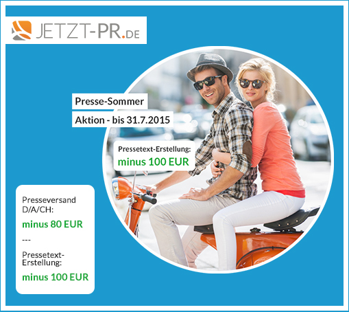 JETZT-PR.de: Presse-Sommer-Aktion bis 31. Juli 2015