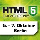 HTML5 Days 2015 in Berlin