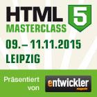 Die HTML5 MasterClass- Präsentiert vom Entwickler Magazin in Kooperation mit der Entwickler Akademie