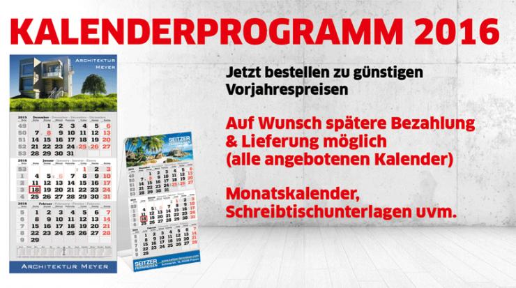 Kalenderdruck für 2016 läuft bei Primus-Print.de auf Hochtouren