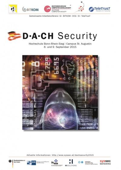 D·A·CH Security 2015 - Hochschule Bonn-Rhein-Sieg | 8. und 9. September
