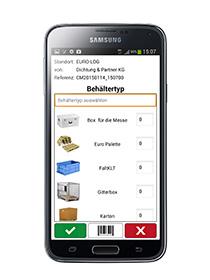 BMS-App als mobile Ergänzung des EURO-LOG Behältermanagement-Systems