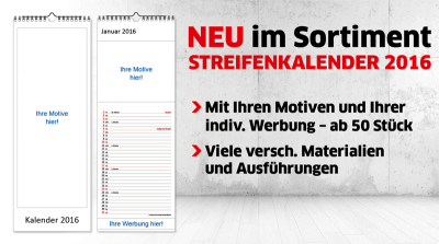 Primus-Print.de erweitert Kalenderprogramm mit Streifenkalendern