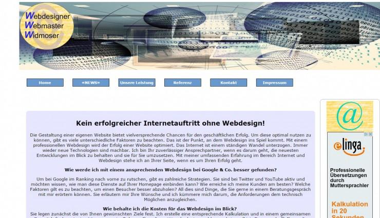 webdesign-webmaster-widmoser.eu erstellt günstige Homepage professionell
