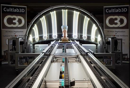 Kulturerbe digital bewahren - Fraunhofer-3D-Scantechnologie ermöglicht vollautomatisierten Dauerbetrieb