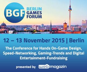 Berlin Games Forum 2015   Early Bird endet kommende Woche Donnerstag, 15. Oktober