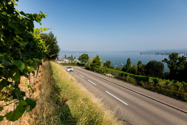 Route 66 mit Bodenseeblick