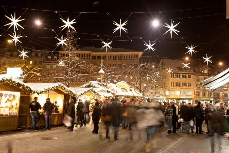 Tanzende Lichter in der Sternenstadt St.Gallen