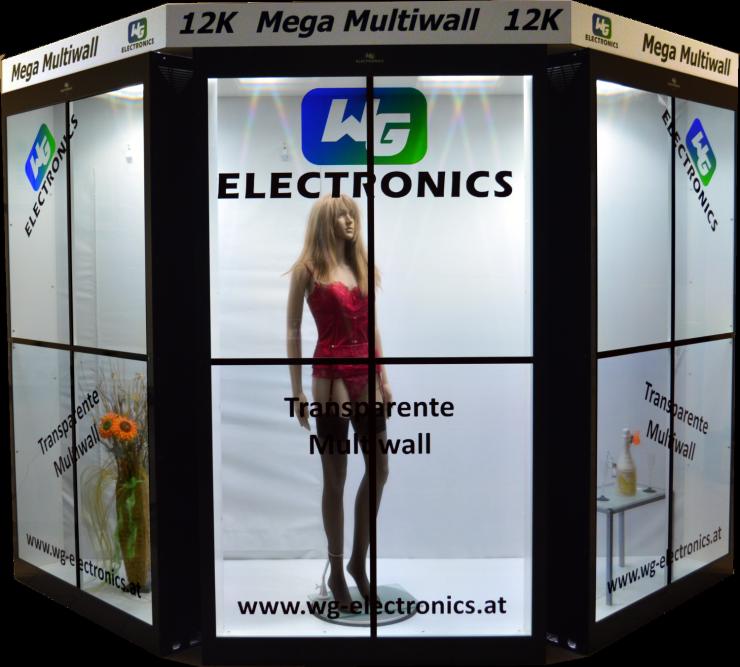 Userful Partners und WG Electronics liefern eine der weltgrößten transparenten Videowände.