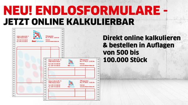 Endlosformulare bei Primus-Print.de jetzt online kalkulierbar