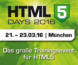 HTML5 Days 2016 in München