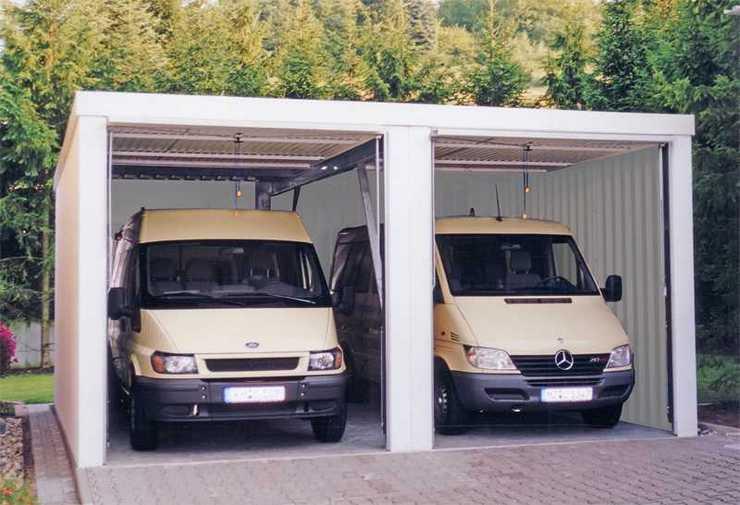Mannschaftstransportfahrzeuge in MC-Garagen