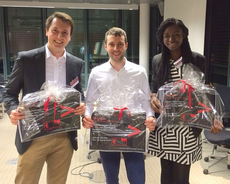 HHL-Team im Finale der Accenture Global Case Challenge