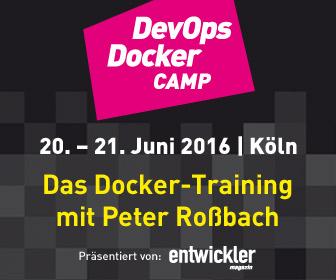 Neuer Termin für das DevOps Docker Camp mit Peter Roßbach: 20. - 21. Juni in Köln