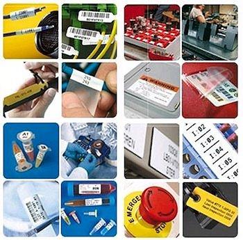Leistungsfähige Etiketten für Industrie, Labor und elektrischen Bereich