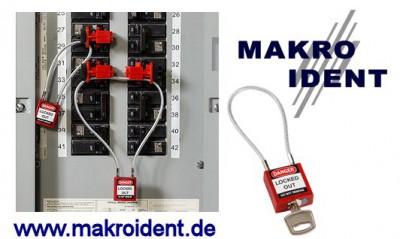 Sicherheitsschlösser mit Kabelbügel für Elektrik und andere Bereiche