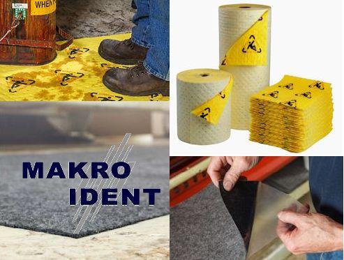 Sicherheitsmatten und Tücher zum Aufnehmen von Öl, Säuren, Chemikalien und andere Flüssigkeiten