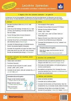 Leichte-Sprache-Tafel: Helfer für den Schreib-Alltag