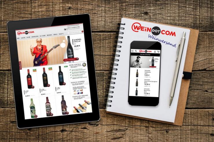 WEiNDOTCOM Weinversand launcht mobile Shopversion optimiert für iPhone & Co.: