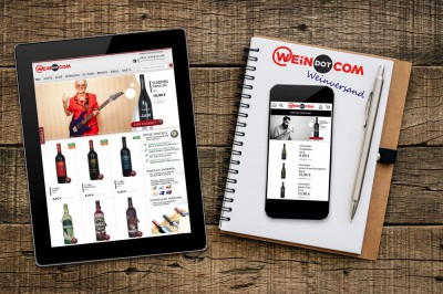 WEiNDOTCOM Weinversand launcht mobile Shopversion optimiert für iPhone & Co.: