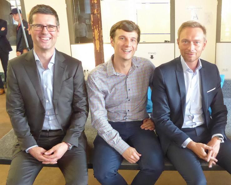 Die K-Frage: Christian Lindner diskutiert im SpinLab - The HHL Accelerator über den Gründergeist in Deutschland