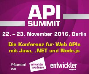 API Summit 2016 startet im November in Berlin
