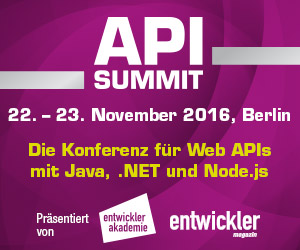 API Summit 2016 startet im November in Berlin