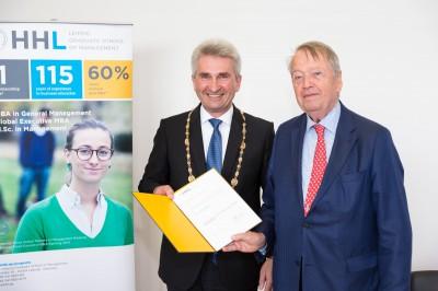 Dr. Arend Oetker neuer Ehrensenator der HHL Leipzig Graduate School of Management