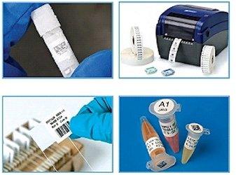 Etiketten für Laborproben und Labor-Etikettendrucker