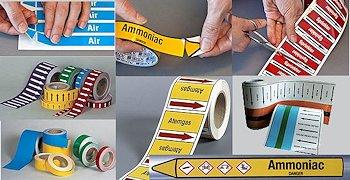 Rohrleitungskennzeichnung nach EU-Richtlinien