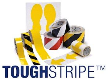 Bodenmarkierungen der Brady ToughStripe-Serie