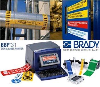 Brady BBP31 Schilderdrucker für die Gebäude- und Sicherheitskennzeichnung