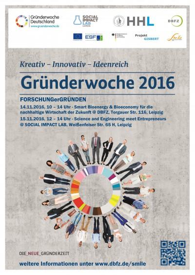 Gründerwoche Deutschland 2016: FORSCHUNGerGRÜNDEN in Leipzig