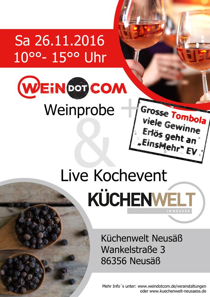 WEiNDOTCOM Weinversand und Küchenwelt in Neusäß veranstalten Tombola zugunsten des Augsburger Elternvereins