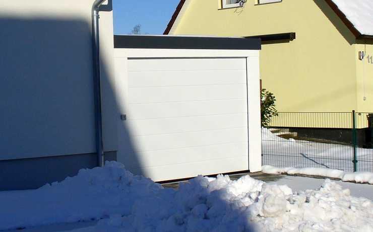 MC-Garagen und winterliche Temperaturen