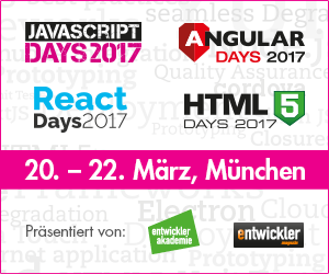 JavaScript Days, Angular Days und HTML5 Days starten zusammen mit den neuen React Days im März in München