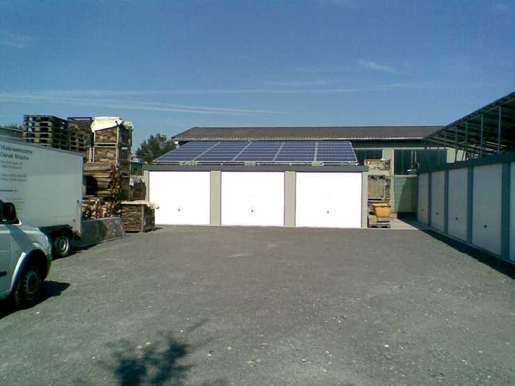 Exklusiv-Garagen und Solarmodule