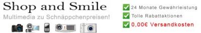 Aktion bei www.shop-and-smile.com - Keine Versandkosten mehr in 2017
