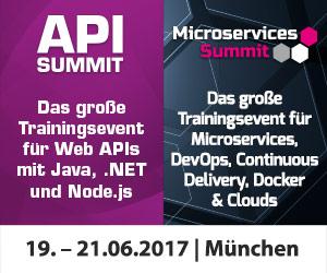API Summit und Microservices Summit finden erstmals zusammen statt
