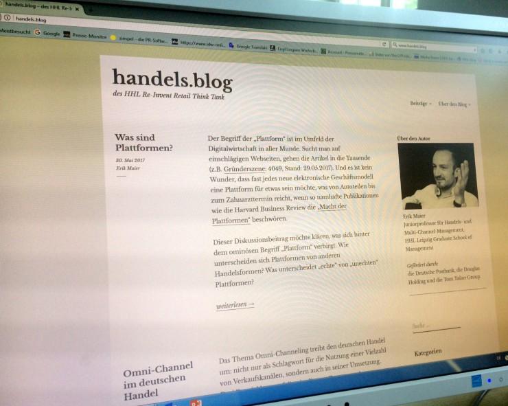 Neuer Handels.blog diskutiert aktuelle Entwicklungen im Handel