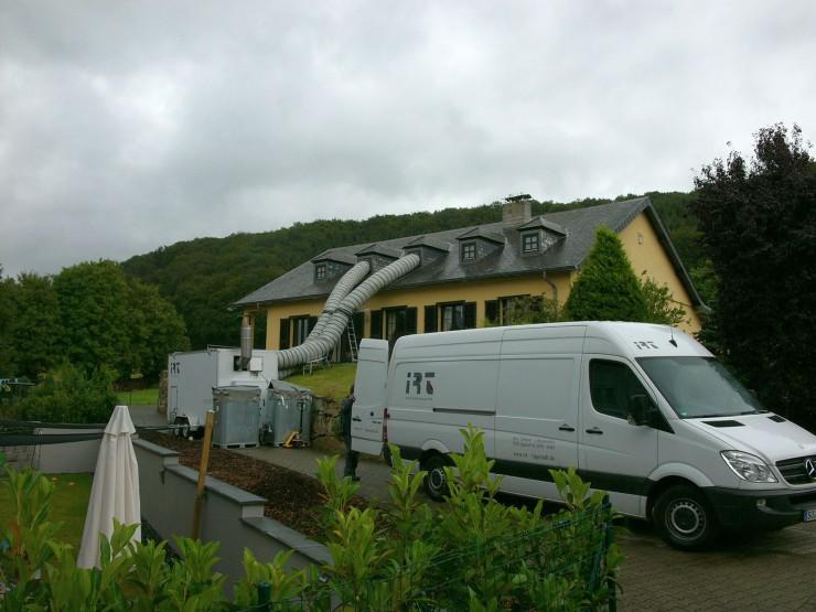 Thermische Behandlung eines Dachstuhls in Luxemburg