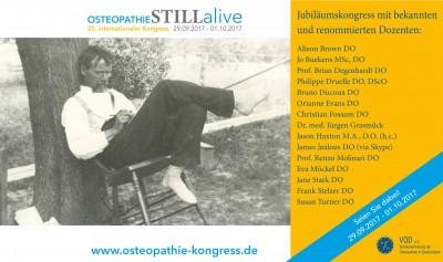 Star-Osteopathen und neueste Osteopathie-Studien / 20. internationaler Osteopathie-Kongress des VOD vom 29.09.  01.10.2017 in Bad Nauheim