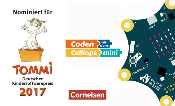 Cornelsen veröffentlicht Schülermaterial für den Einsatz des Minicomputers Calliope mini in der Grundschule unter freier OER-Lizenz
