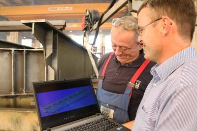 Stahlbau digital - Nagelprobe beim Brücken-Projekt Baakenhafen Hamburg