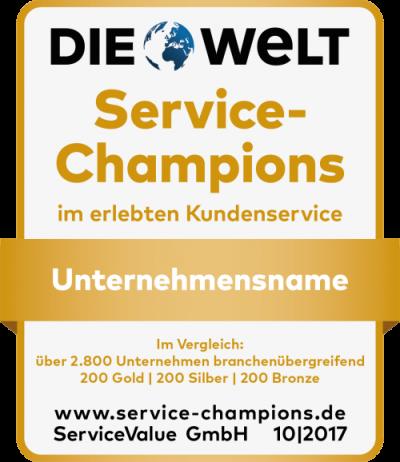 Von Kunden ausgezeichnet: Das sind die Service-Champions 2017