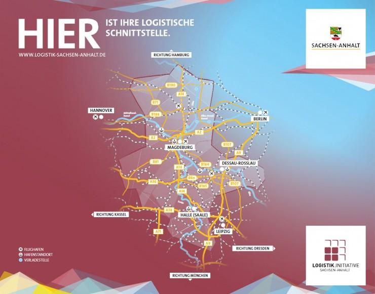 HIER ist Ihre logistische Schnittstelle: Die Logistik.Initiative Sachsen-Anhalt auf dem 34. Deutschen Logistik-Kongress in Berlin