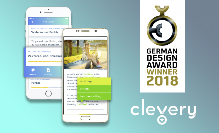 Exzellentes Kommunikationsdesign: Cornelsen Clevery gewinnt den German Design Award 2018 in der Kategorie Apps