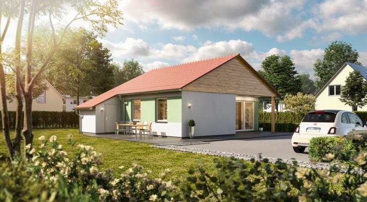 Glückswelthäuser: Kompaktes Massivhaus mit barrierearmen Konzept
